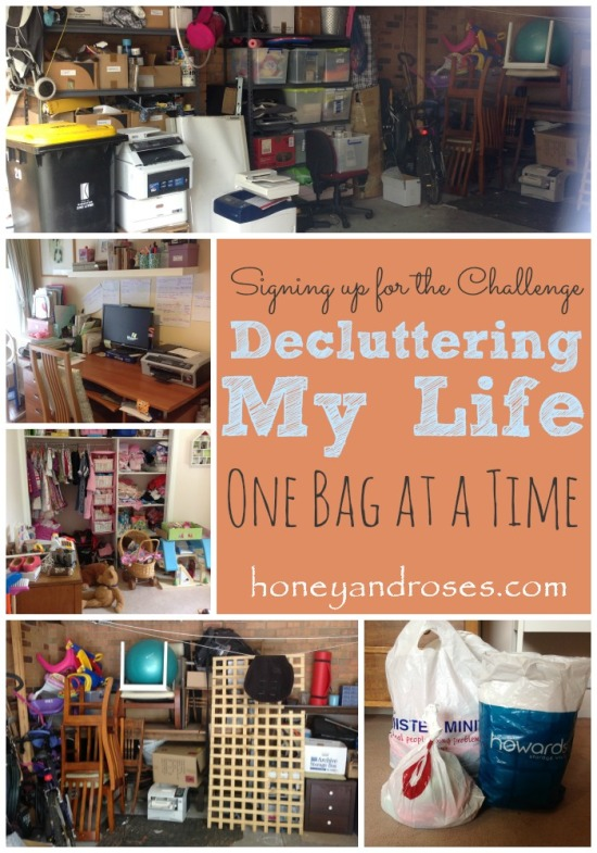 Signing up for the Challenge ... Decluttering my Life One Bag at a Time