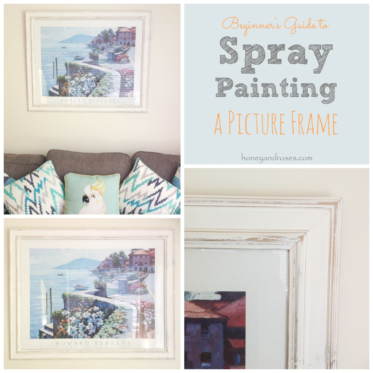 Spray Painting Picture Frames Gold Frame Mirror Can I Spray Paint