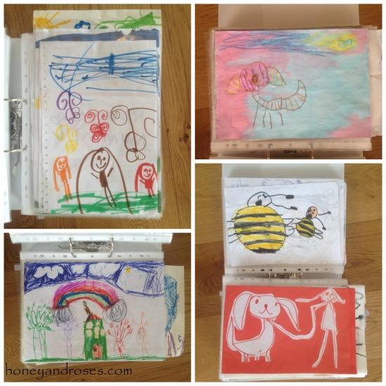 How to Organise Children's Art Work ... Declutter Challenge