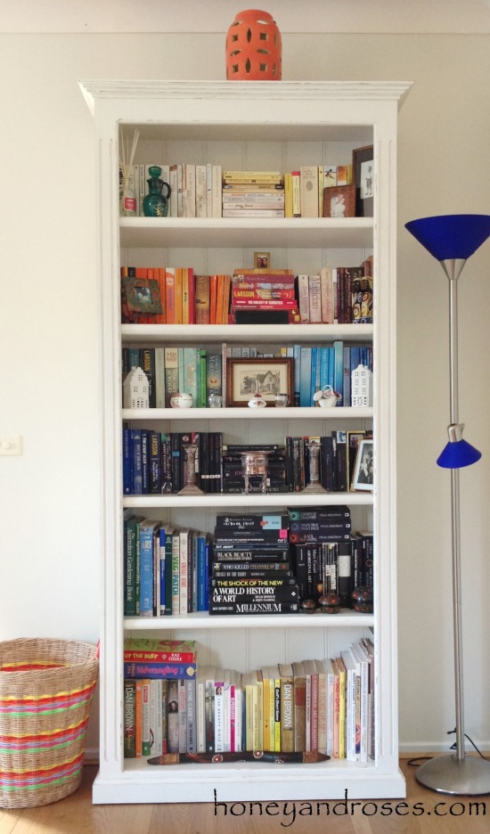 How to Makeover a Pine Bookcase