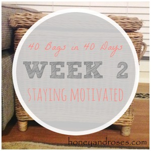 Week 2 - Staying Motivated ... Decluttering My Life One Bag at a Time