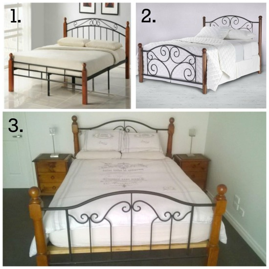 Makeover of a Wood and Cast Iron Bed
