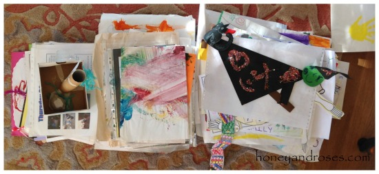 How to Organise Your Child's Art Work ... Declutter Challenge