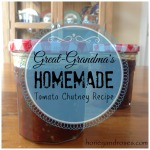 Great-Grandma's Homemade Tomato Chutney Recipe