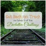 Get Back on Track ... for the Declutter Challenge