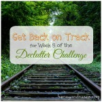 Get Back on Track ... for the Declutter Challenge