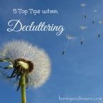 5 Top Tips When Decluttering