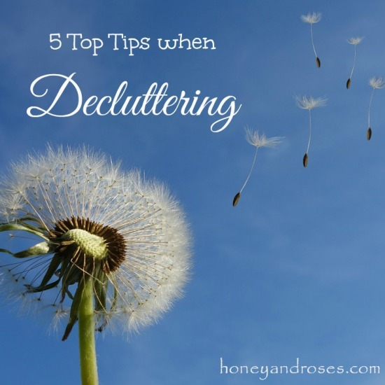 5 Top Tips When Decluttering