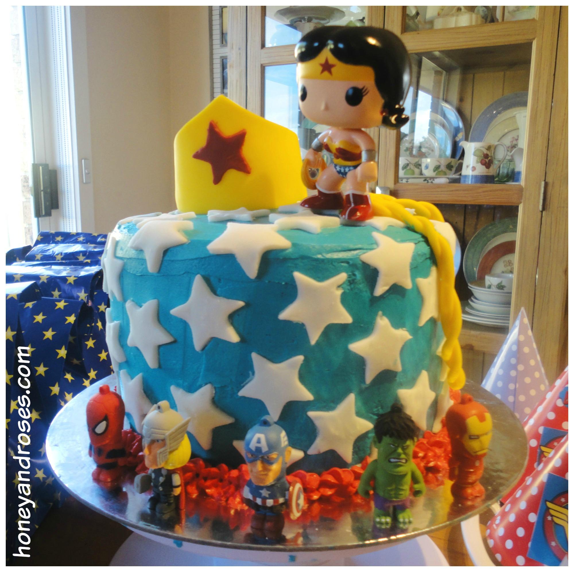 How To Make A Wonder Woman Birthday Cake  Honey  Roses-4090