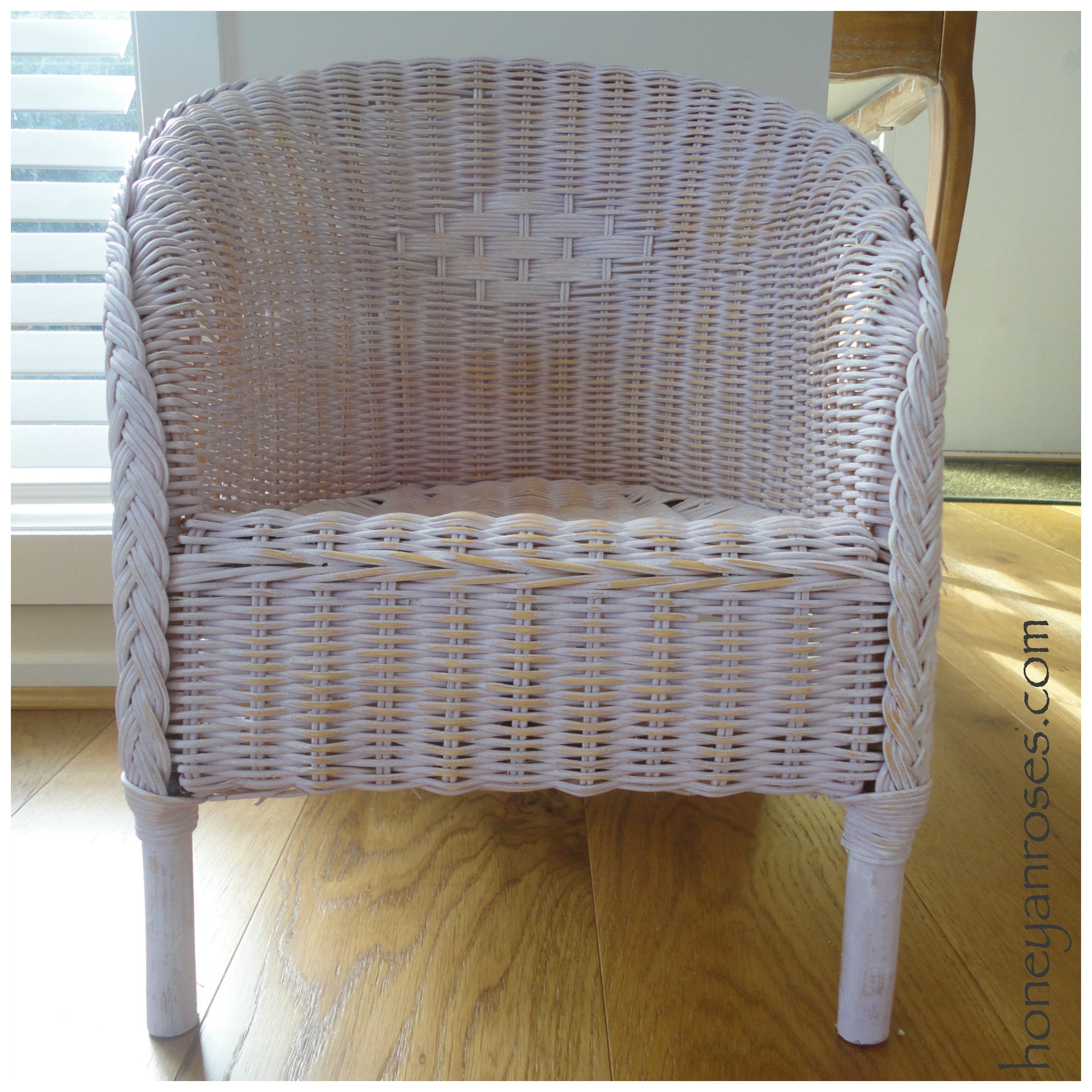 How To Paint A Wicker Chair With Chalk Paint 171 Honey Amp Roses