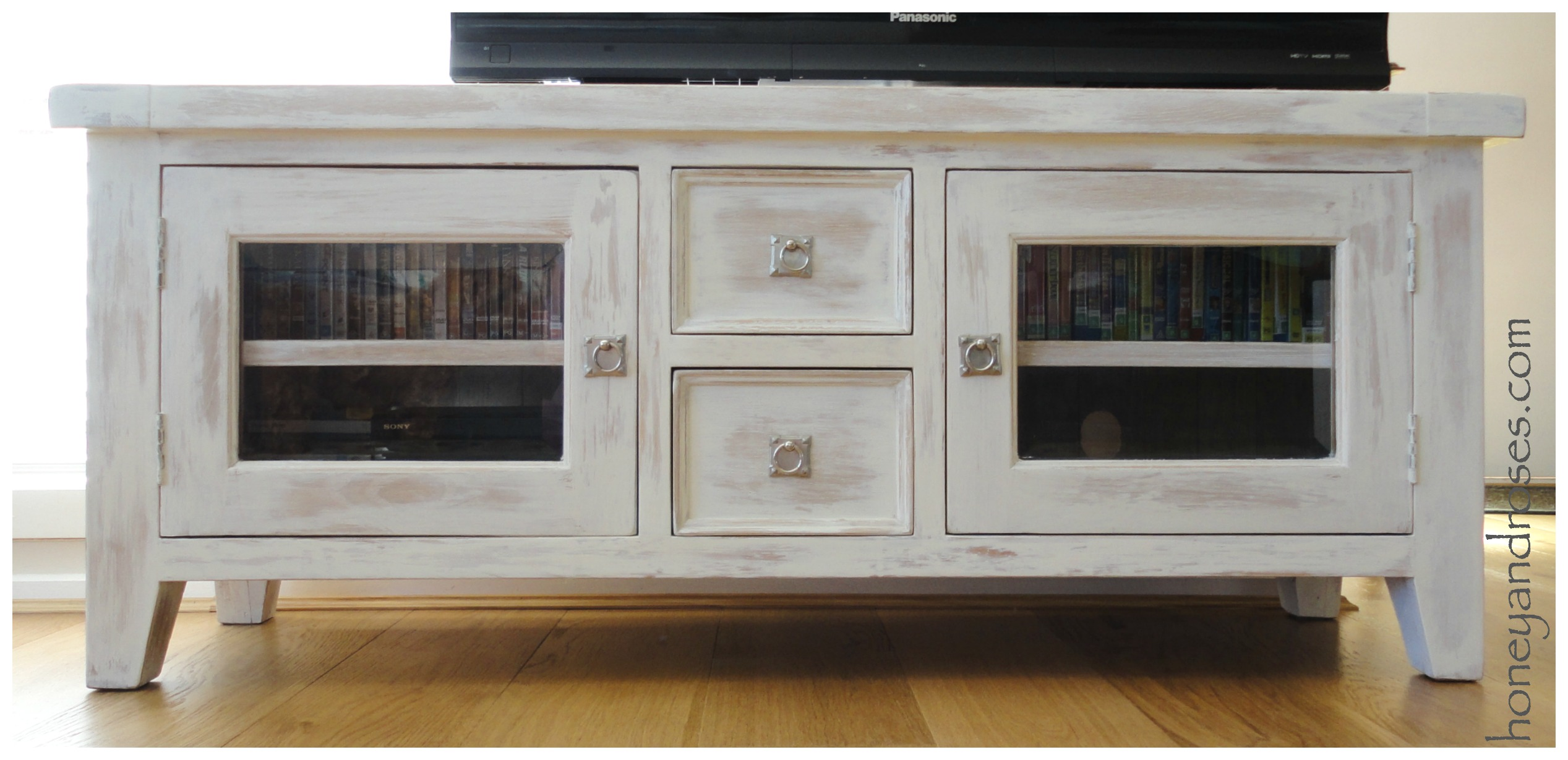 Makeover Of A Tv Unit With Chalk Paint Honey Roses