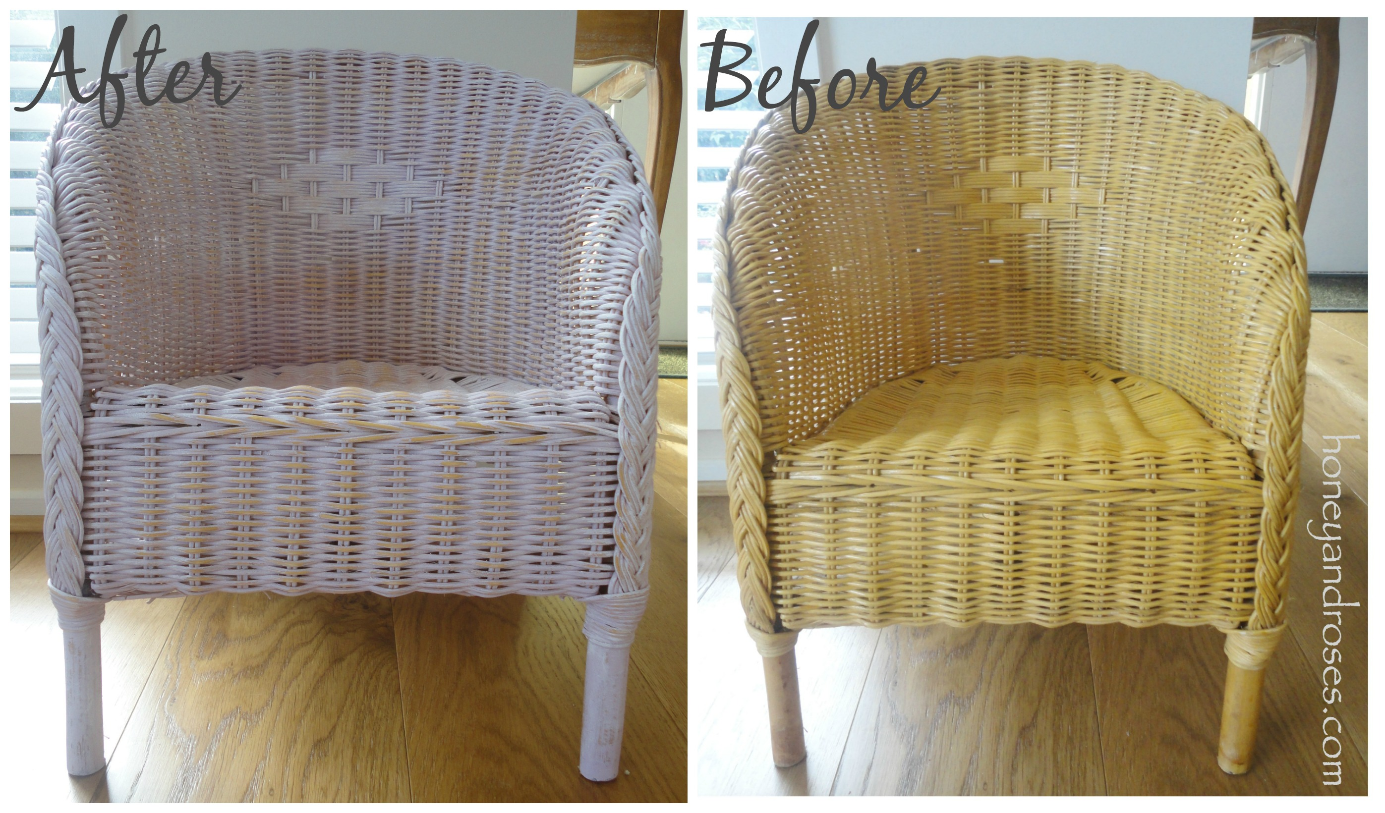 Fine How To Paint A Wicker Chair With Chalk Paint Honey Roses Squirreltailoven Fun Painted Chair Ideas Images Squirreltailovenorg