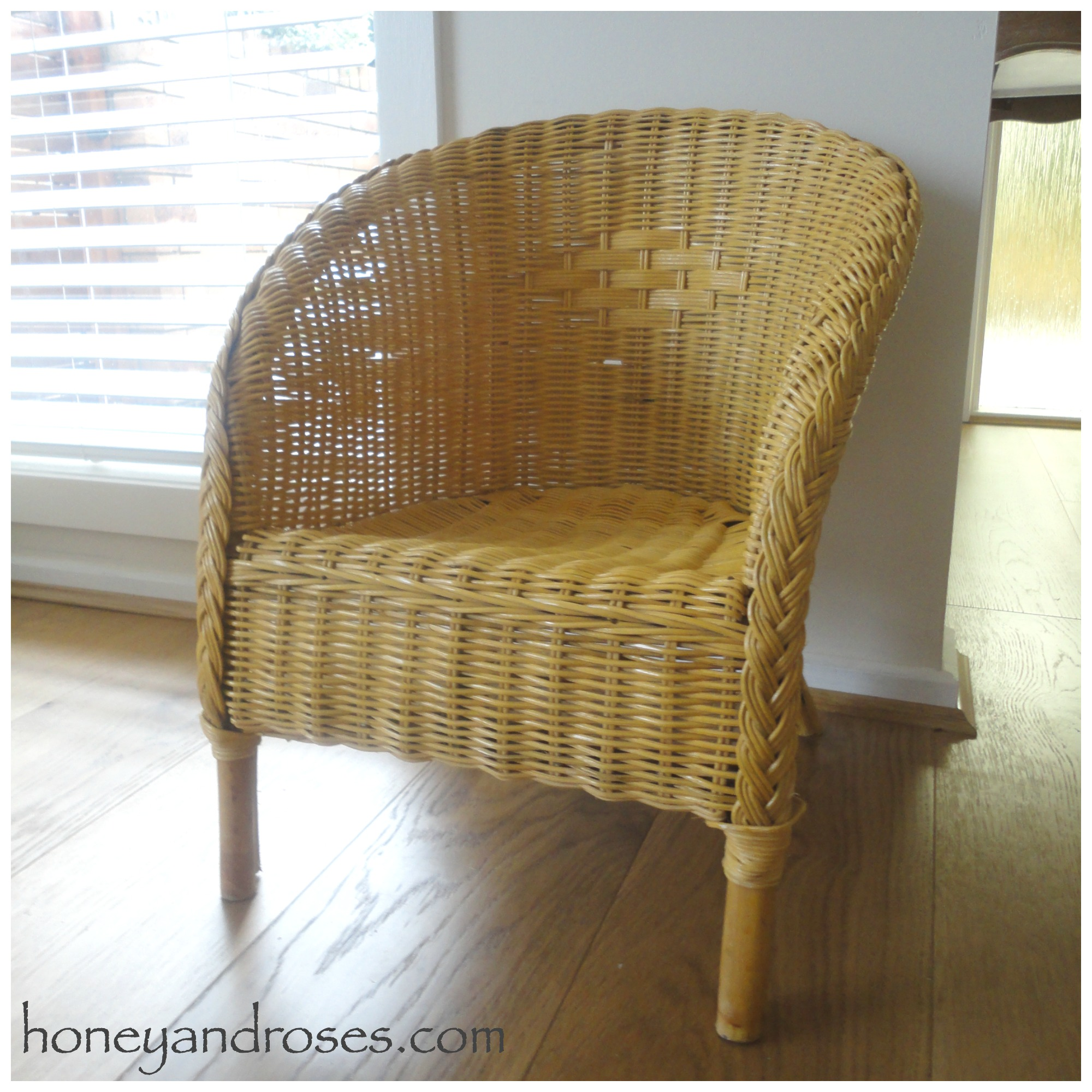 how to paint a wicker chair with chalk paint honey roses ForWhat Is Wicker Furniture
