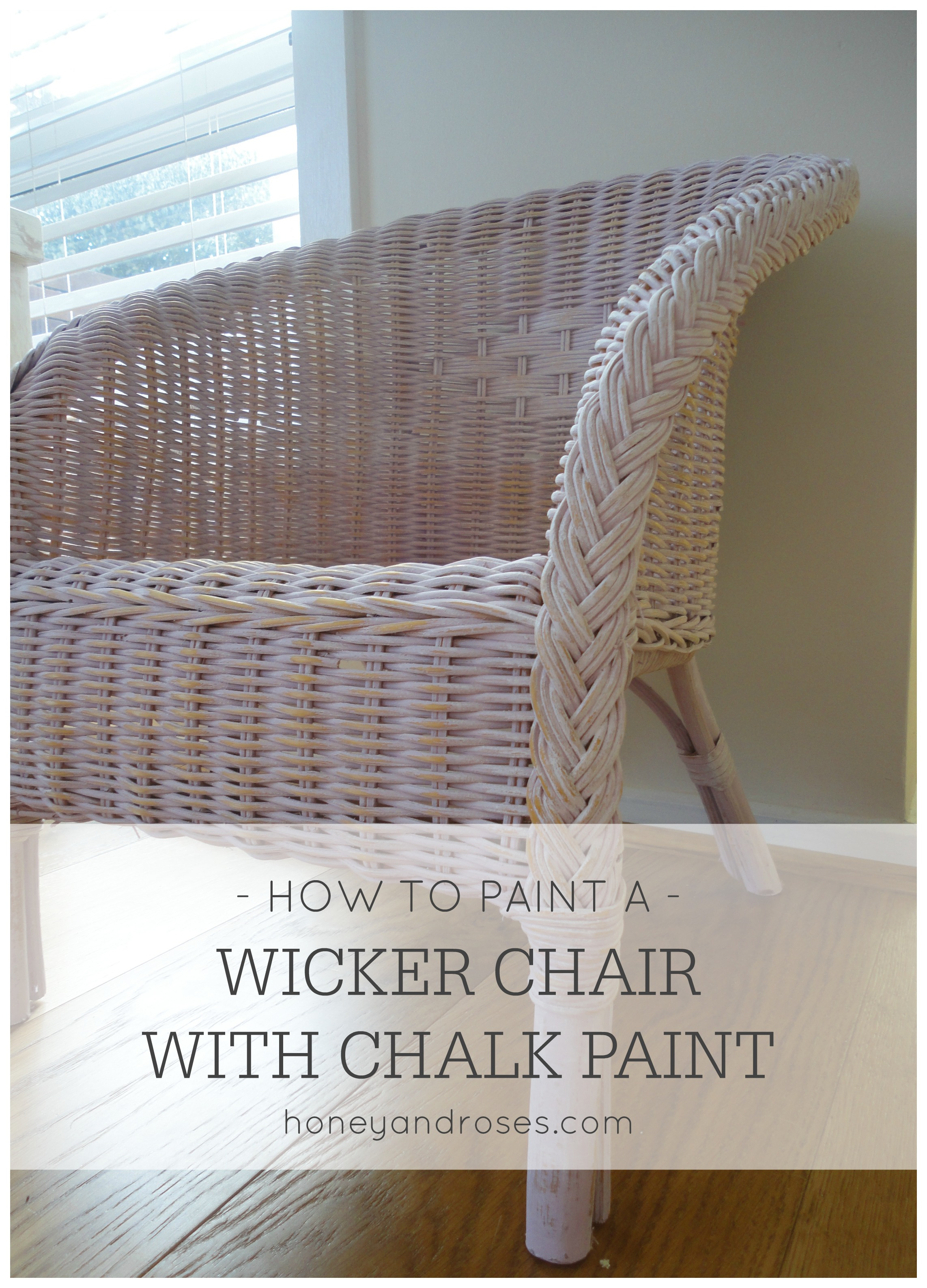 how to paint a wicker chair with chalk paint honey roses. Black Bedroom Furniture Sets. Home Design Ideas