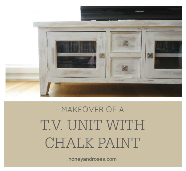 makeover of a tv unit with chalk paint - Painted Tv Consoles
