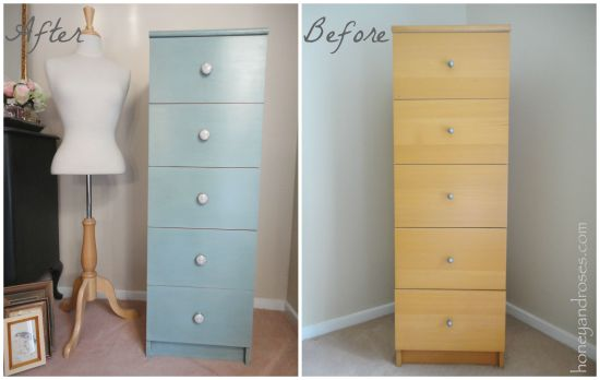 Ikea Hack of My Bedroom Tallboy | www.honeyandroses.com