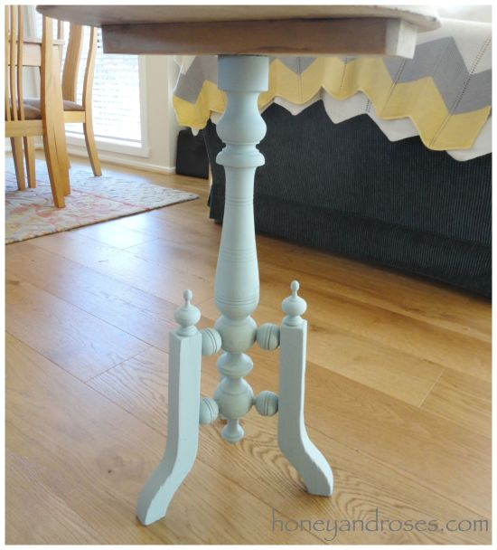 Makeover of a Side Table | www.honeyandroses.com