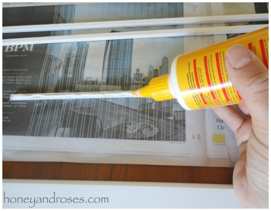 How to Install a Plate Rail on Shelves | www.honeyandroses.com
